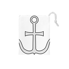 Anchored Cross Drawstring Pouches (small)  by abbeyz71