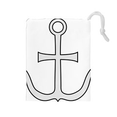 Anchored Cross Drawstring Pouches (large)  by abbeyz71