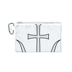 Anchored Cross Canvas Cosmetic Bag (s) by abbeyz71