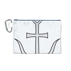 Anchored Cross Canvas Cosmetic Bag (m) by abbeyz71