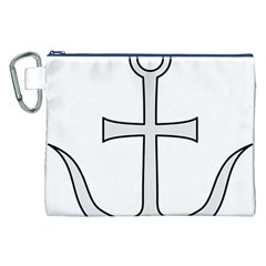 Anchored Cross Canvas Cosmetic Bag (xxl) by abbeyz71