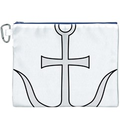 Anchored Cross Canvas Cosmetic Bag (xxxl) by abbeyz71