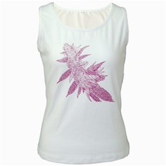 Ganja Pink Women s White Tank Top by getstonedinstyle