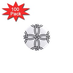 Carolingian Cross 1  Mini Magnets (100 Pack)  by abbeyz71