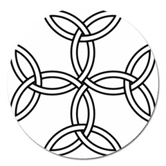 Carolingian Cross Magnet 5  (round) by abbeyz71