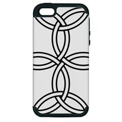 Carolingian Cross Apple Iphone 5 Hardshell Case (pc+silicone) by abbeyz71