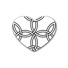 Carolingian Cross Heart Coaster (4 Pack)  by abbeyz71