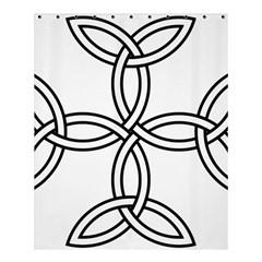 Carolingian Cross Shower Curtain 60  X 72  (medium)  by abbeyz71