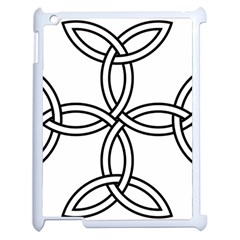 Carolingian Cross Apple Ipad 2 Case (white) by abbeyz71