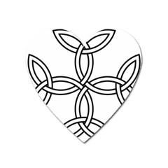 Carolingian Cross Heart Magnet by abbeyz71