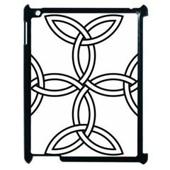 Carolingian Cross Apple Ipad 2 Case (black) by abbeyz71