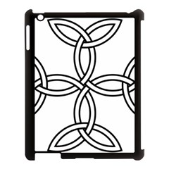 Carolingian Cross Apple Ipad 3/4 Case (black) by abbeyz71