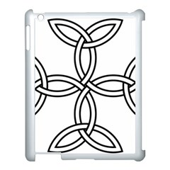Carolingian Cross Apple Ipad 3/4 Case (white) by abbeyz71