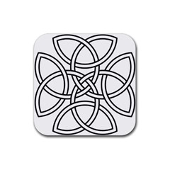 Carolingian Cross Rubber Square Coaster (4 Pack)  by abbeyz71