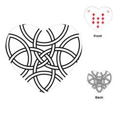 Carolingian Cross Playing Cards (heart)  by abbeyz71