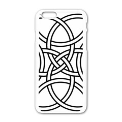 Carolingian Cross Apple Iphone 6/6s White Enamel Case by abbeyz71