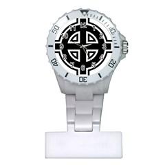 Celtic Cross Plastic Nurses Watch by abbeyz71