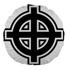 Celtic Cross Large 18  Premium Flano Round Cushions by abbeyz71