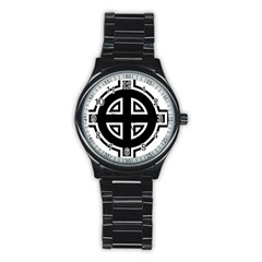 Celtic Cross Stainless Steel Round Watch by abbeyz71