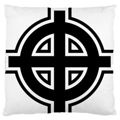 Celtic Cross Large Flano Cushion Case (two Sides)