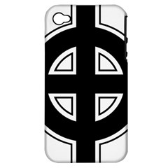 Celtic Cross Apple Iphone 4/4s Hardshell Case (pc+silicone) by abbeyz71
