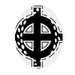 Celtic Cross Oval Filigree Ornament (two Sides) by abbeyz71