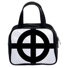Celtic Cross  Classic Handbags (2 Sides) by abbeyz71