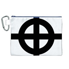 Celtic Cross  Canvas Cosmetic Bag (xl) by abbeyz71