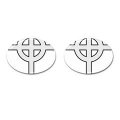 Celtic Cross  Cufflinks (oval) by abbeyz71