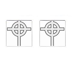 Celtic Cross  Cufflinks (square) by abbeyz71