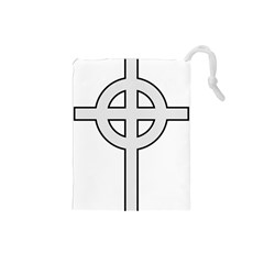 Celtic Cross  Drawstring Pouches (small)  by abbeyz71