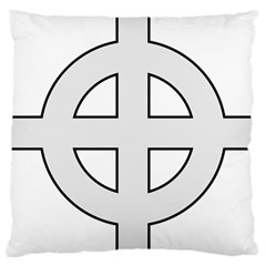 Celtic Cross  Large Cushion Case (two Sides) by abbeyz71