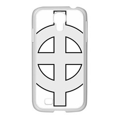 Celtic Cross  Samsung Galaxy S4 I9500/ I9505 Case (white) by abbeyz71
