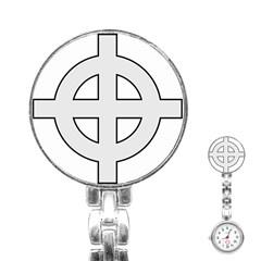 Celtic Cross  Stainless Steel Nurses Watch by abbeyz71
