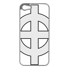 Celtic Cross  Apple Iphone 5 Case (silver) by abbeyz71