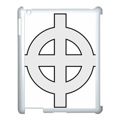 Celtic Cross  Apple Ipad 3/4 Case (white) by abbeyz71
