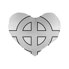 Celtic Cross  Standard 16  Premium Flano Heart Shape Cushions