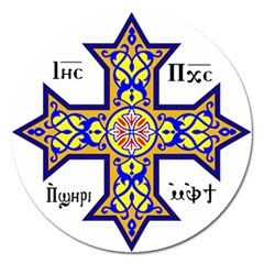 Coptic Cross Magnet 5  (round) by abbeyz71