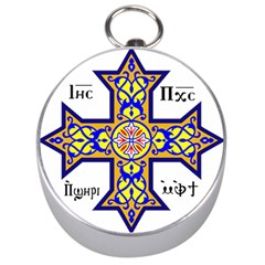 Coptic Cross Silver Compasses