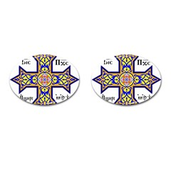 Coptic Cross Cufflinks (oval) by abbeyz71