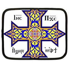 Coptic Cross Netbook Case (xxl)  by abbeyz71