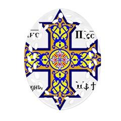 Coptic Cross Ornament (oval Filigree) by abbeyz71