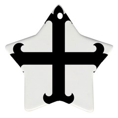 Cross Fleury  Star Ornament (two Sides) by abbeyz71