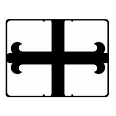 Cross Fleury  Fleece Blanket (small) by abbeyz71