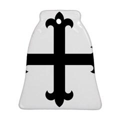 Cross Fleury Bell Ornament (two Sides) by abbeyz71