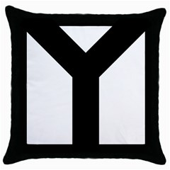 Forked Cross Throw Pillow Case (black) by abbeyz71
