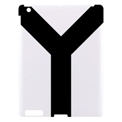 Forked Cross Apple Ipad 3/4 Hardshell Case by abbeyz71