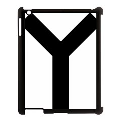 Forked Cross Apple Ipad 3/4 Case (black) by abbeyz71