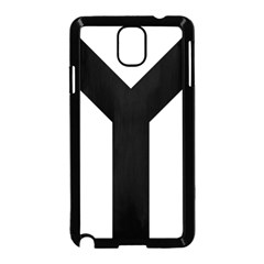 Forked Cross Samsung Galaxy Note 3 Neo Hardshell Case (black) by abbeyz71