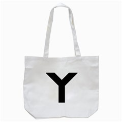 Forked Cross Tote Bag (white) by abbeyz71